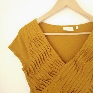 Anthropologie | Deletta - Golden Pleated Shirt